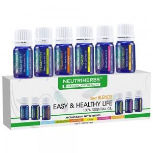 Neutriherbs Aromatherapy Top 6 Best Essential Oil Blends Set (6 x 10ml)