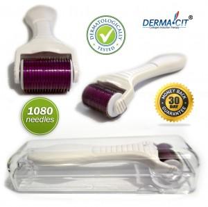 DERMA-CIT Micro Needle Titanium Derma Roller 1080 Needles Premium Top Quality Body Roller System