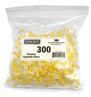 Efficient Cigarette Filters Bulk Economy Pack (Total 300 Filters)