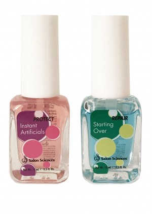 Salon Science Instant & Starting Over After Artificials Nail Revitalizing Strengthener Hardener Repair Base Top Coat Gel